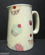 Heron Cross Pottery Cup Cakes Chintz English 1/2 Pint Milk Jug