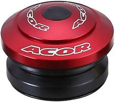 "Acor Fully Integrated Headset 1.1/8"" MTB Bicycle Bike Alloy Red 41.8mm Bearings"