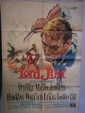 Manifesto LORD JIM 1965 INTROVABILE!! PETER O'TOOLE, JAMES MASON, CURT JURGENS2F