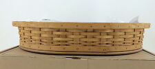 Longaberger 2004 Collectors Club Serving Tea Tray Basket Combo w Protector Pad