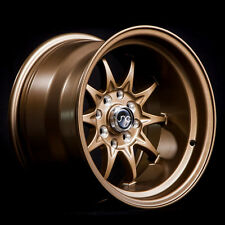 NEW JNC 003 WHEELS 15X9 4X100/4x114.3 +0 OFFSET MATTE BRONZE SET OF 4 RIMS