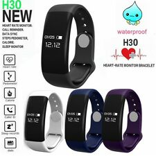 H30 Bluetooth Sport Smart Watch Bracelet Pedometer Heart Rate Monitor Black