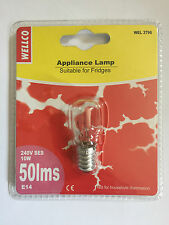 Wellco Screw Type SES E14 10W 10 Watt Fridge Freezer Lamp Light Bulb