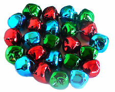 Jingle Bells, Asst Cols, 15mm RED,GREEN & BLUE 24pcs by Amazing Arts and Crafts