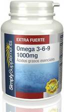 Simply Supplements Omega 3-6-9 1000mg 120 + 120 Cápsulas (S459)