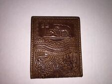 Montana West Men's Praying Cowboy Cross Horse Western Wallet Leather - BROWN