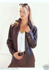 TOGETHER - DAMEN -LEDERJACKE - NAPPA -BRAUN- Gr.40 NEU