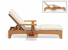 TEAK STEAMER CHAISE LOUNGER TEAK OUTDOOR PATIO FURNITURE CARANAS DECK DINING NEW