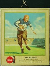 1947 Large Coca-Cola Coke Sports Hangers Series Red Grange Ad Piece