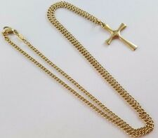 "James Avery 14k Yellow Gold 2 MM 20.5"" Curb Chain w/ Serenity Cross Pendant"