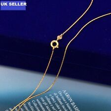 """9K 9ct Yellow """"GOLD FILLED"""" Men Ladies Slim Necklace CHAIN , L= 18"""" ,3.6g. Gift"""""""