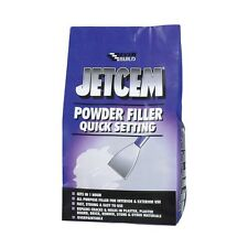 EVERBUILD JETCEM QUICK SETTING POWDER FILLER 3KG WHITE DECORATING REPAIRS