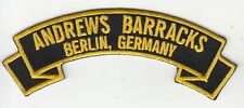 COLD WAR Andrews Barracks,Berlin, Germany embroidered rocker tab patch
