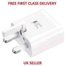 Genuine UK Mains Power Charger Charging Adapter For Samsung Galaxy S5 S6 S7 Edge