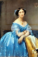 Ingres Art Print Royal PRINCESS Elegant Victorian c19th Fashion Dress Jewellry