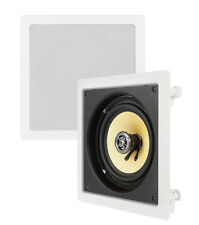 "2) VM AUDIO Elux 6.5"" 200 Watt 2 Way In-Wall Surround Sound Home Speaker (Pair)"