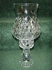 VINTAGE BLOCK COMPANY 2 PC. CANDLE HOLDER HURRICANE FAIRY LAMP-24% LEAD CRYSTAL