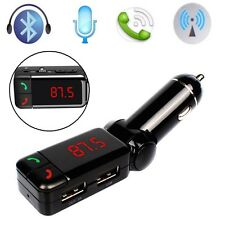 Bluetooth Car Kit FM Transmitter Handsfree MP3 USB Charger For Iphone Android LW