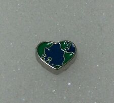 Floating charms for living lockets heart earth world birthday girl scout recycle