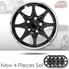 New 16 inch Black Hubcaps Wheel Covers Full Lug Skin Hub Cap Set 522 For Honda