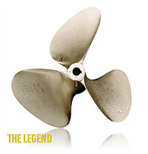 "OJ Legend 13 x 13 Inboard Propeller 3 Blade Left Hand Nibral 1 1/8"" Shaft #1023"