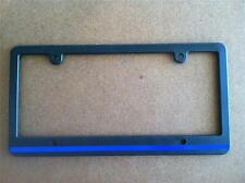 Skinny Black License Plate Frame Thin Blue Line Reflective Auto Accessory