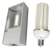 Low Bay Fitting with 60w LED Corn Light 6500 Lumen Replaces 200w SON / MH
