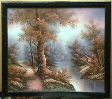 Vintage I. Capiza Signed Oil Painting Fairy Tale Landscape - Italy - Frame 23x26