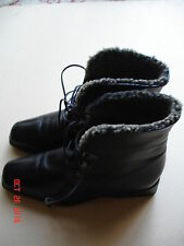 Women's Inga Winter Leather Ankle Boots Fur Lining Size 9