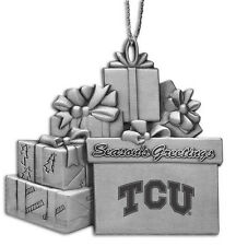 Texas Christian University - Pewter Gift Package Ornament