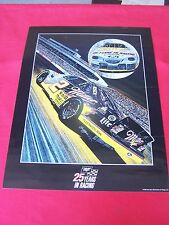 """1996 NASCAR Poster,"""" SILVER MOON #3 """" RUSTY WALLACE-Driver"""" Signed-Sam Bass"""