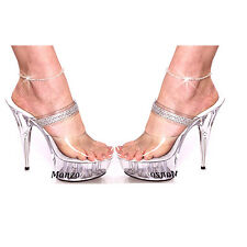 *SET OF 2* SEXY Crystal Rhinestone Stretch Tennis SPARKLE Anklet Ankle Bracelet