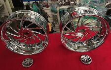 CAN-AM SPYDER CHROME 18 INCH TURBO RIMS w/ TIRES & SPYDER LOGO CENTER CAPS~ $AVE