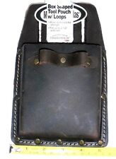 Mcguire-Nicholas Oil Tanned Saddle Leather Box Shaped Tool Pouch w/Loops