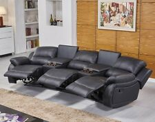 Voll-Leder Fernsehsessel Relaxsofa Sofa Relaxsessel Polstermöbel 5129-Cup-3-S