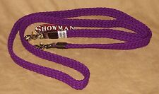 Flat Braid Cotton Blend Western Barrel Roping Trail Rein New Horse Tack - PURPLE