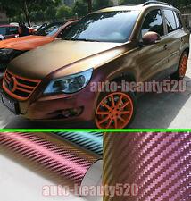 Entire Car Wrap CBW 3D Chameleon Carbon Fiber Vinyl Sticker Gold / P 50ft x 5ft