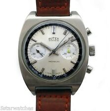 Vintage 1960's BUTEX Huge Swiss Chronograph Original Dial