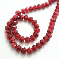 Wholesale new 20pcs Rondelle Faceted Crystal Glass Loose Spacer Beads diy 10mm