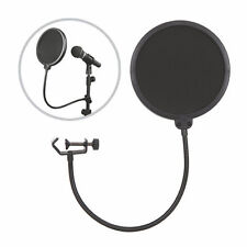 Double Layer Studio Microphone Mic Wind Screen Mask Gooseneck Shied Pop Filter !