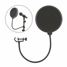 Double Layer Studio Microphone Mic Wind Screen Mask Gooseneck Shied Pop Filter B