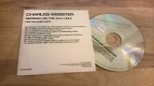 CD Indie Charles Webster-remixato on the 24th July (10) canzone PROMO Peacefrog CB