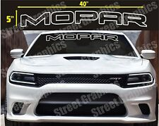 MOPAR TOP WINDSHIELD VINYL DECAL STICKER BANNER, CHARGER, CHALLENGER, RAM ETC.