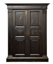 2977 : ITALIAN STYLE OLD WORLD 2 DOOR ARMOIRE WARDROBE CABINET