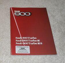 Saab 900 Brochure 1985-1986 - Turbo 16S - Turbo 16 - Turbo - Hatchback & Coupe