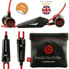 Genuine Monster Beats by Dr Dre iBeats In Ear Cuffie Auricolari Headset NUOVO