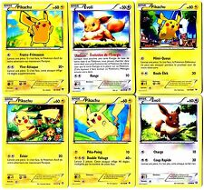 CARTE POKEMON lot de 6 cartes PIKACHU - EVOLI EEVEE Neuf Mint Lot N° PIKA6 55