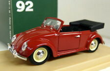 Rio 1/43 Scale 92 Volkswagen Maggiolino Cabriolet 1949 Red diecast model car
