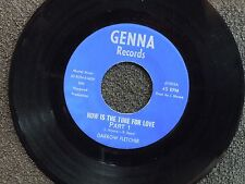 northern soul DARROW FLETCHER Now Is the Time For Love GENNA M- listen!!