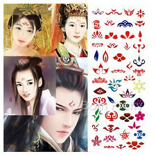 Artistic Face Sticker Tatto For Party Kids Removable Waterresistant Tatto